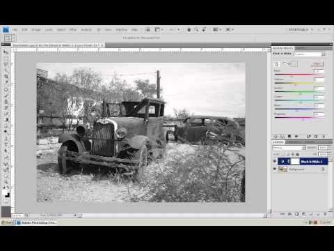Photoshop CS4 - Phan 1 - Bai 21 - Black & White moi