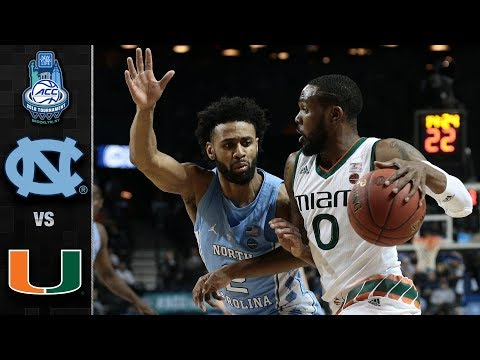 North Carolina vs. Miami ACC Basketball Tournament Highlights (2018)