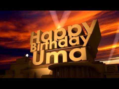 Happy Birthday Uma