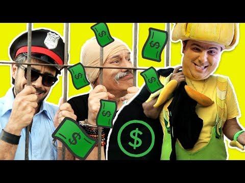 فوزي موزي وتوتي - فوزي موزي يربح المليون - Bank robbery