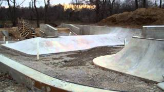 Construction Update #3: Veterans Skatepark 12/17/11 - Woodbridge, Va - Thunderwood
