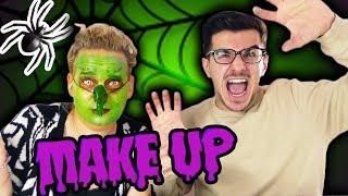 """""""Claudio macht mein Halloween Make up!"""" 🎃 Eva als Hexe! Halloween Kostüm DIY mit Claudio"""