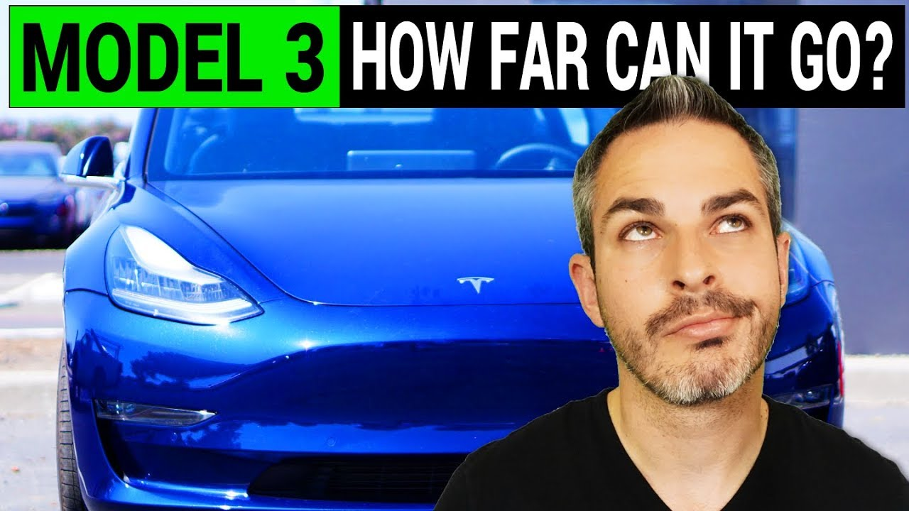 tesla model 3 how far can it go on one charge youtube. Black Bedroom Furniture Sets. Home Design Ideas