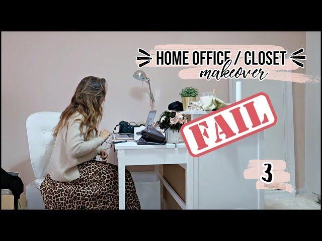 HOME OFFICE/CLOSET MAKEOVER #3 - MUDEI DE IDEIAS // A Inês Ribeiro