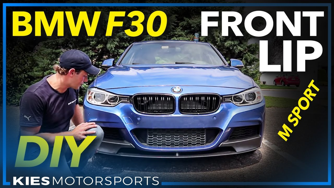 F30 M Sport Style Lip Installation 2013 335i With Sport