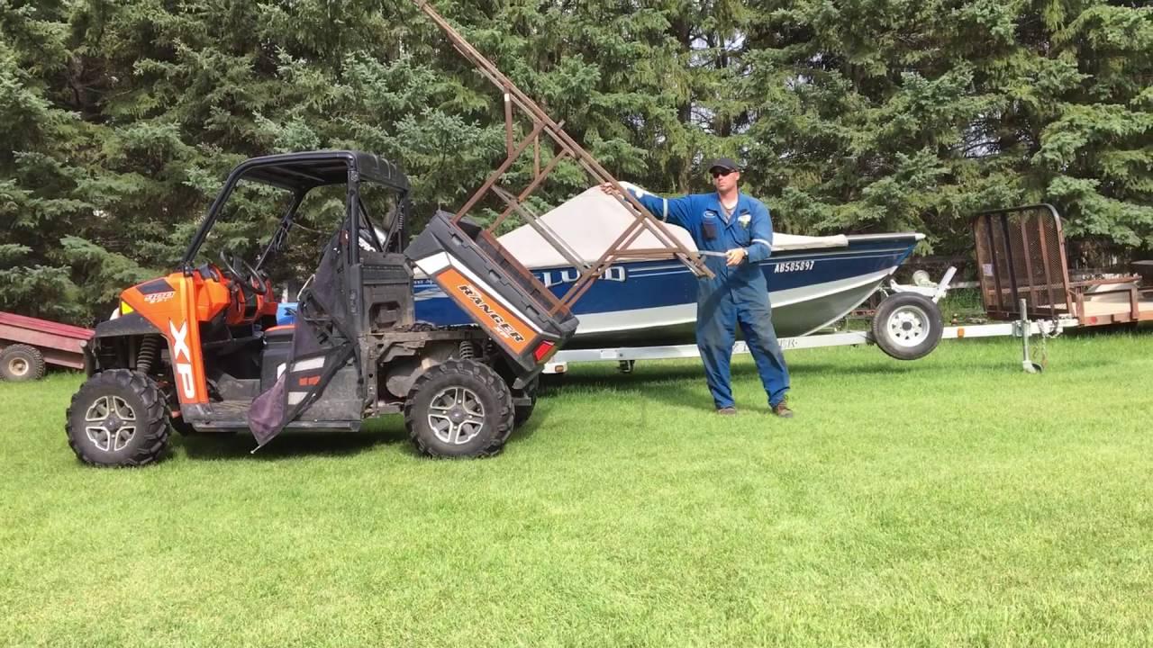 Polaris Ranger Boat Canoe Rack Carrier Youtube