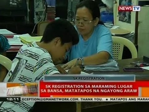 BT: SK registration sa maraming lugar sa bansa, matatapos na ngayong araw