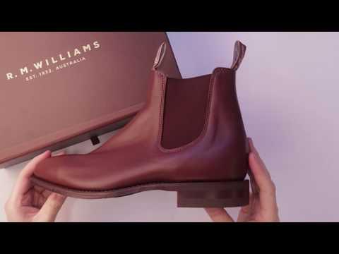 RM Williams Comfort Craftsman Boots Unboxing in Dark Tan