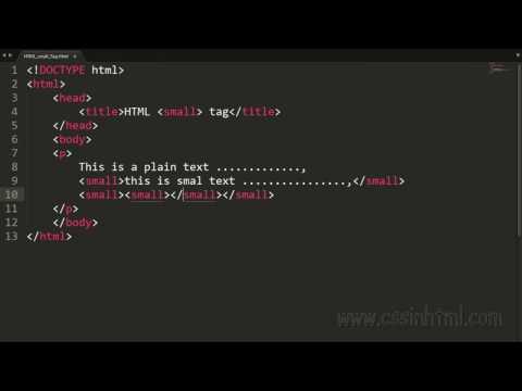 HTML Small Tag