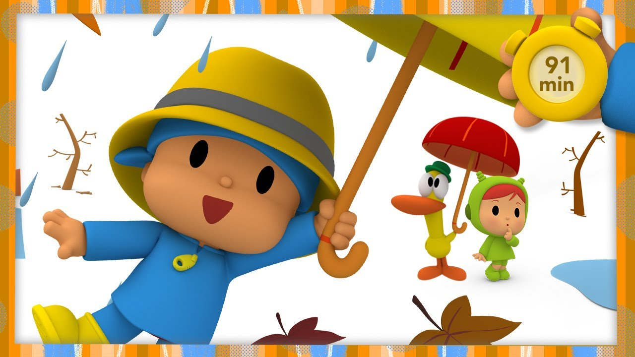 🍁 POCOYO AND NINA - Windy Autumn Day [91minutes] | ANIMATED CARTOON for Children | FULL episodes