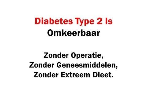 Diabetes type 2 genezen zonder operatie, zonder geneesmiddelen en zonder calorieen tellen