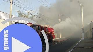 Incêndio de grande proporção causa prejuízos e fumaça cobre área central de Pará de Minas