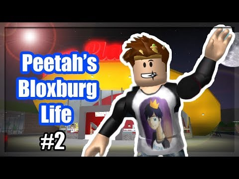 FINDING A JOB IN ROBLOX BLOXBURG! PEETAH'S BLOXBURG LIFE #2