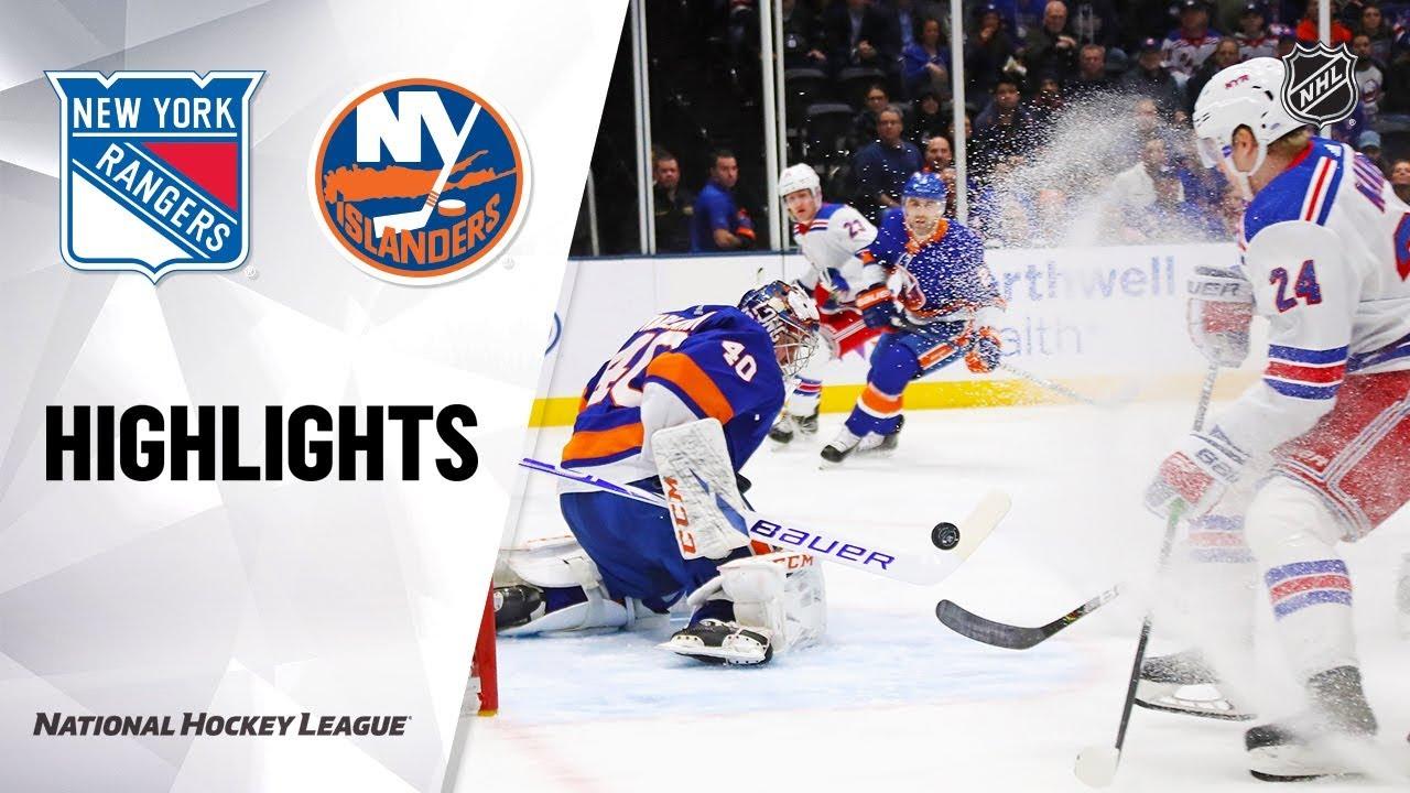 NHL Highlights | Rangers @ Islanders 1/16/20