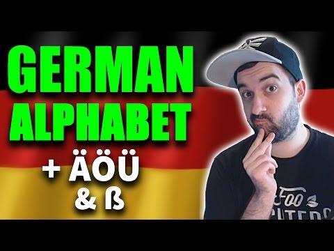 Learn German - Ultimate Basics   Alphabet / ABC - Letters, Umlaute & Eszett (ß)   VlogDave