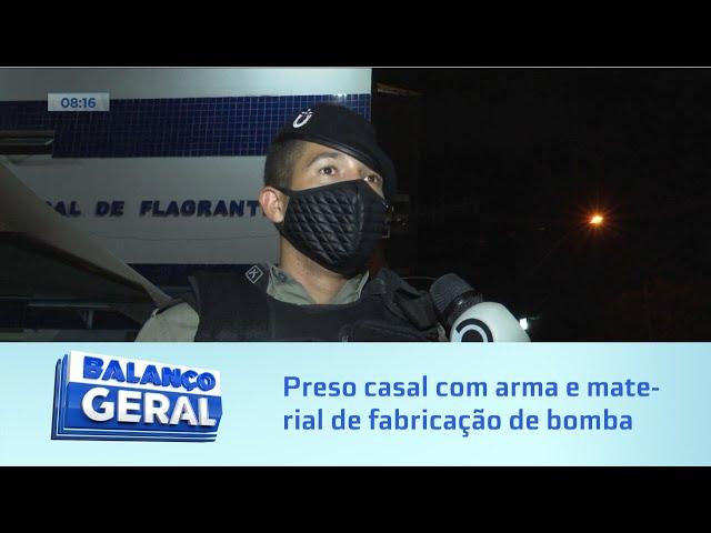 Na sede da torcida do CRB: Preso casal com arma e material de fabricação de bomba caseira