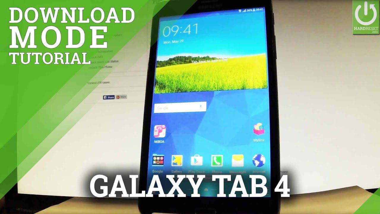 Download Mode SAMSUNG Galaxy Tab S4 - HardReset info