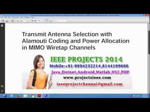 Transmit Antenna Selection with Alamouti Coding and Power Allocation in MIMO Wiretap Channels