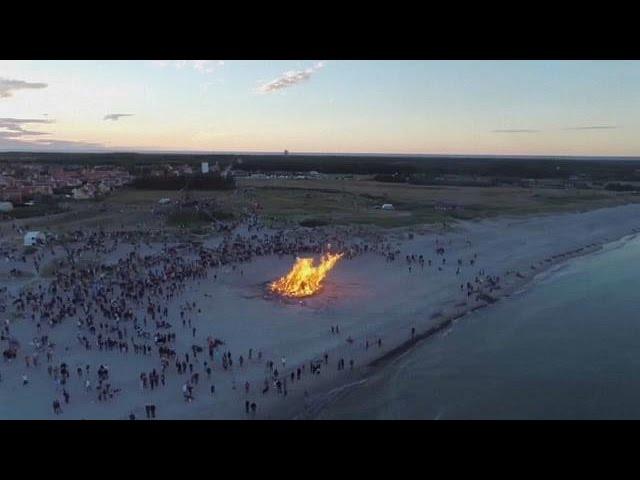 Denmark celebrates Midsummer with bonfires