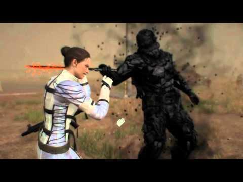 MGS5's new MGS3 Costume DLC - Action/CQC No HUD Gameplay - METAL GEAR SOLID V PHANTOM PAIN