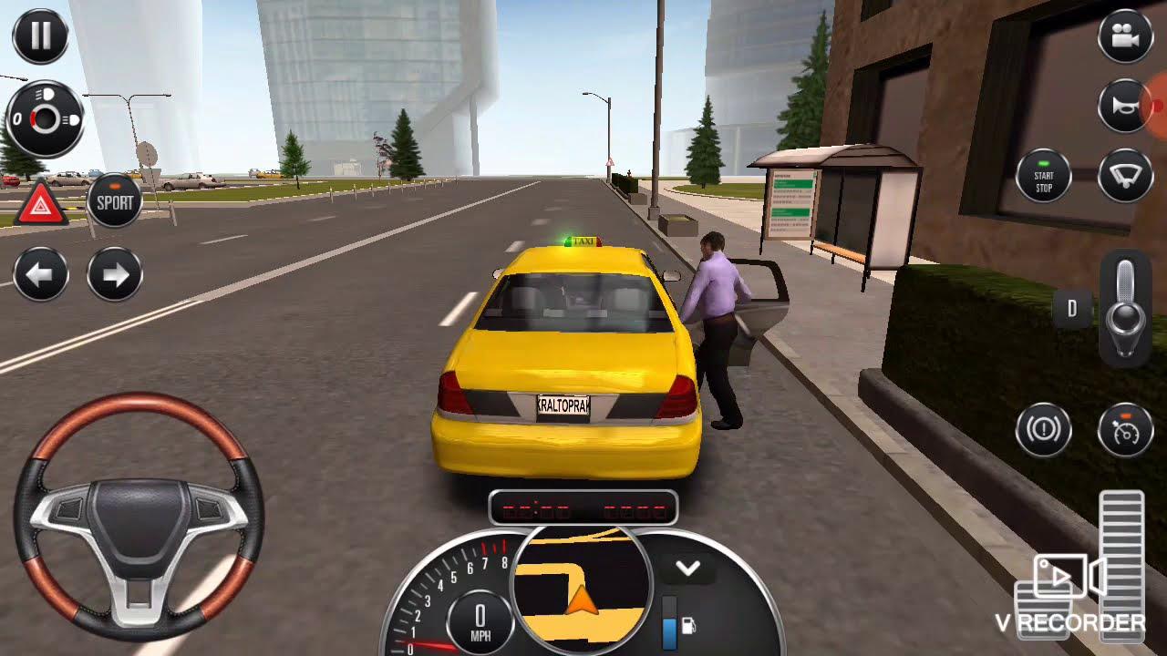 Taksi Surucusu Araba Oyunu Taxi Driver Car Game Taxi Sim 2016