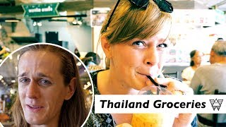 First time Grocery Shopping in Thailand! How much does Thai Food cost?! thumbnail