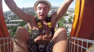 Skok na bungee w koszyku z biedronki - Bungee Kraków