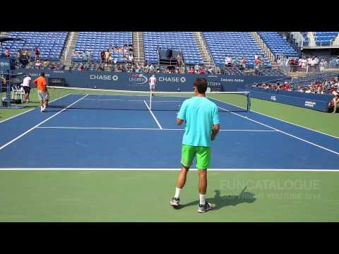 Tommy Robredo Practice US Open 2014 1/2