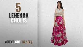 Top 10 Lehenga Cholis 2018 Ecolors Fab Women 39 s Silk Lehenga Choli 2001_Navy_Blue01_Pink_Free