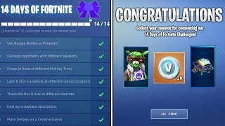 what happens when you COMPLETE every 14 Days of Fortnite Challenge! Day 14 Reward Unlocked
