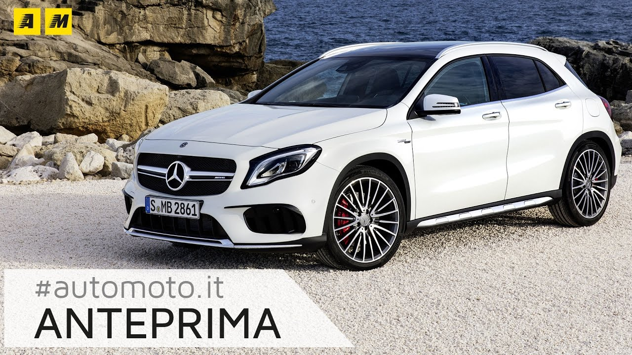 mercedes gla restyling 2017 amg anteprima youtube. Black Bedroom Furniture Sets. Home Design Ideas