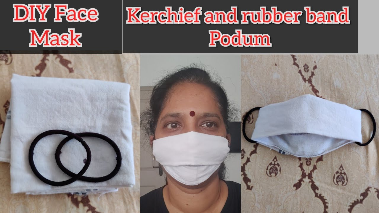 Diy Face Mask With Handkerchief And Rubber Bands Face Mask For Coronavirus Youtube