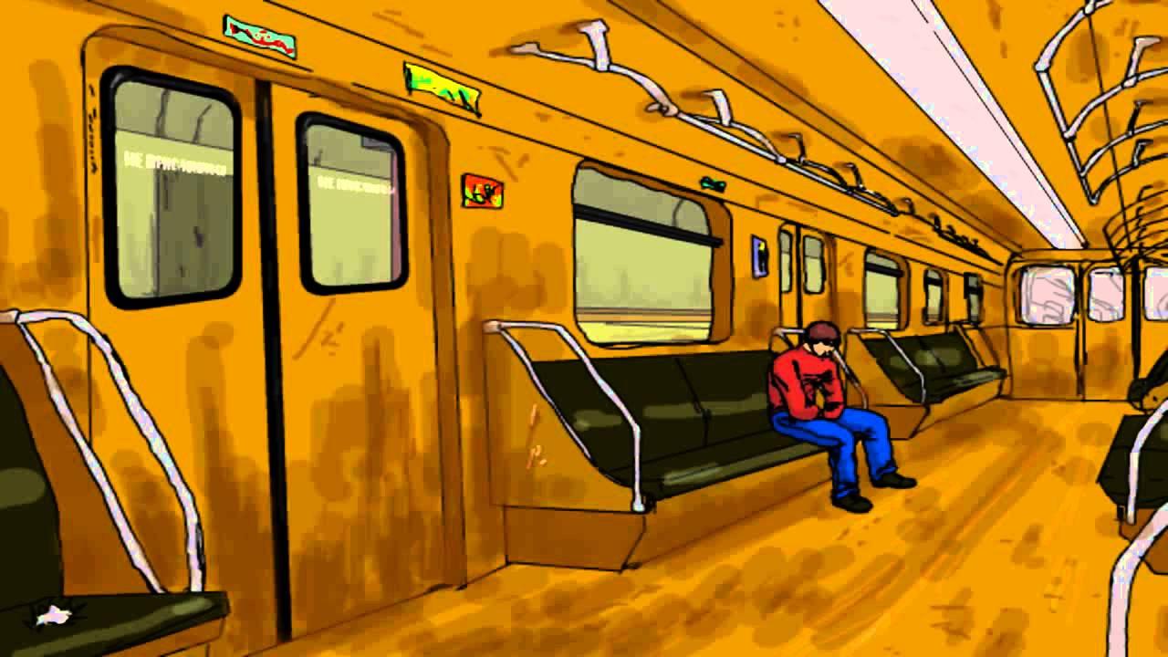 как рисуют в метро видео порно