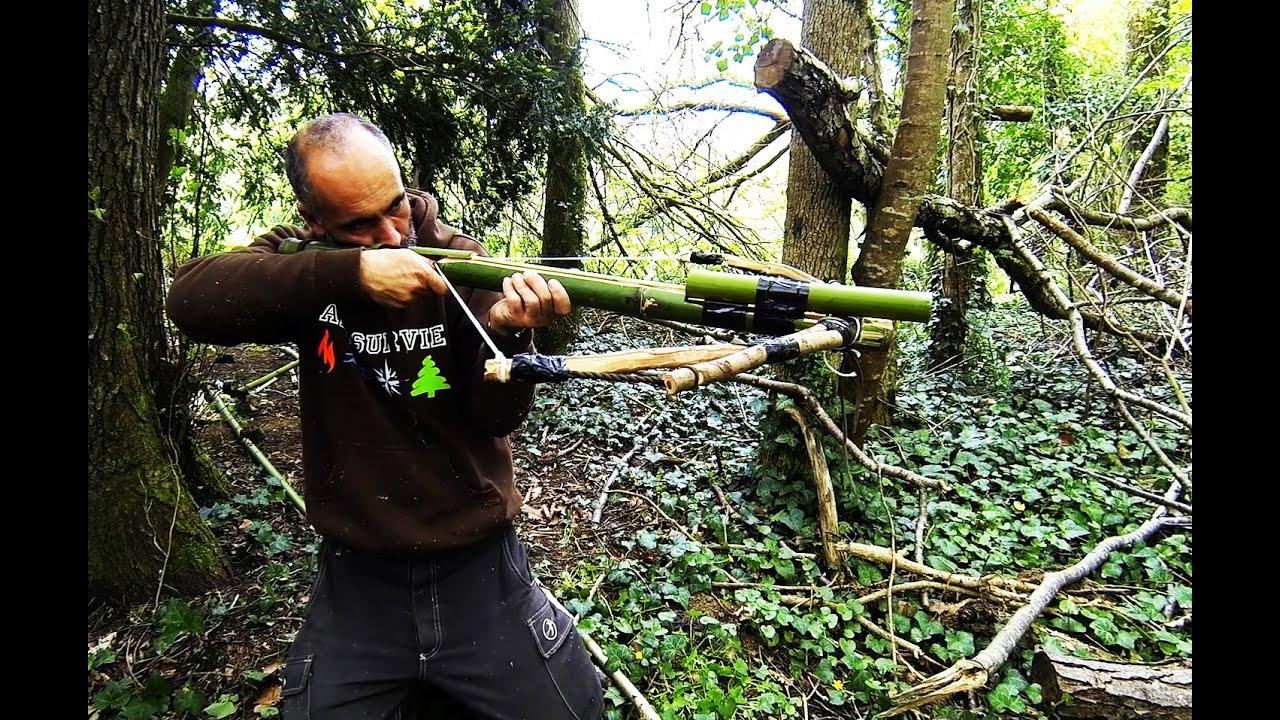 arbalte en bambou  survival crossbow  YouTube