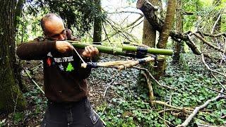 arbalète en bambou / survival crossbow.