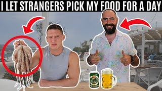 Letting STRANGERS decide what I eat for 24 hours...