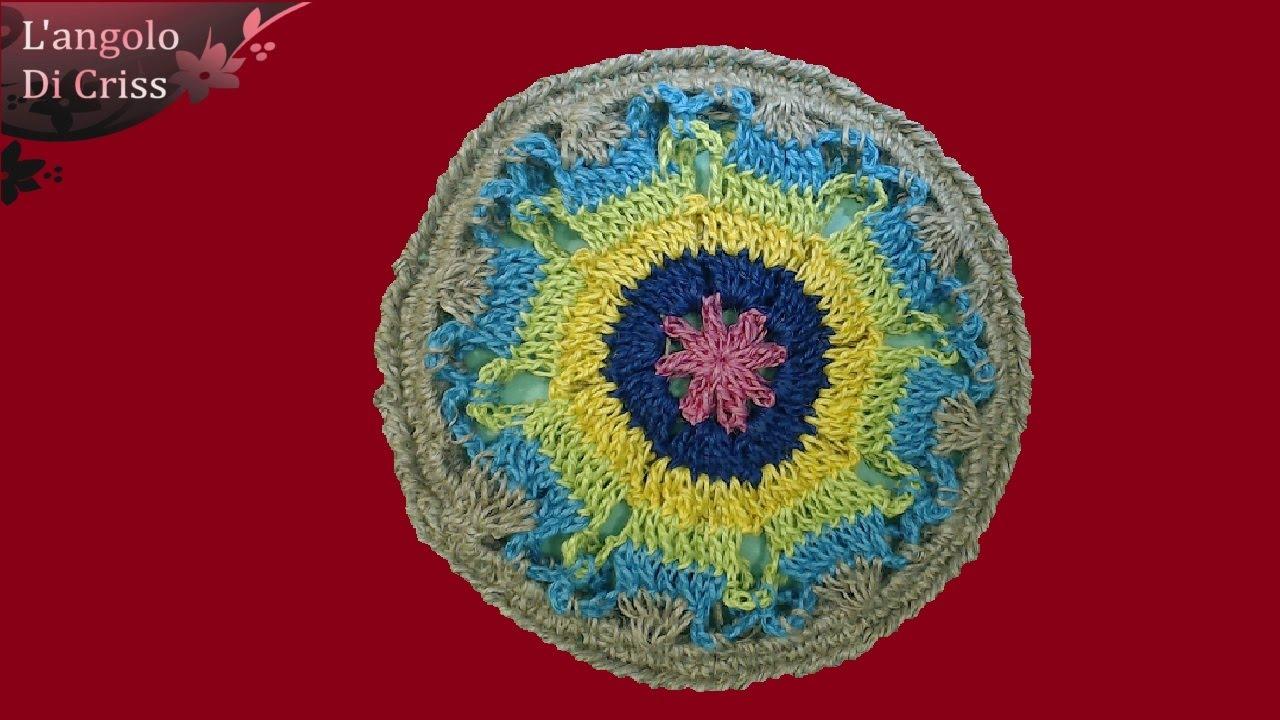 Sottopentola Alluncinetto Mandala Style Crochet Trivet Trivet
