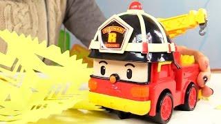Мультфильмы про машинки. Видео из игрушек Робокар Поли. Снежинки из бумаги