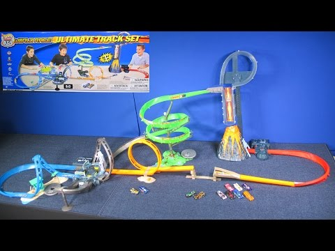 Hot Wheels Ultimate Track Set Highway 35 World Race RaceGrooves Review