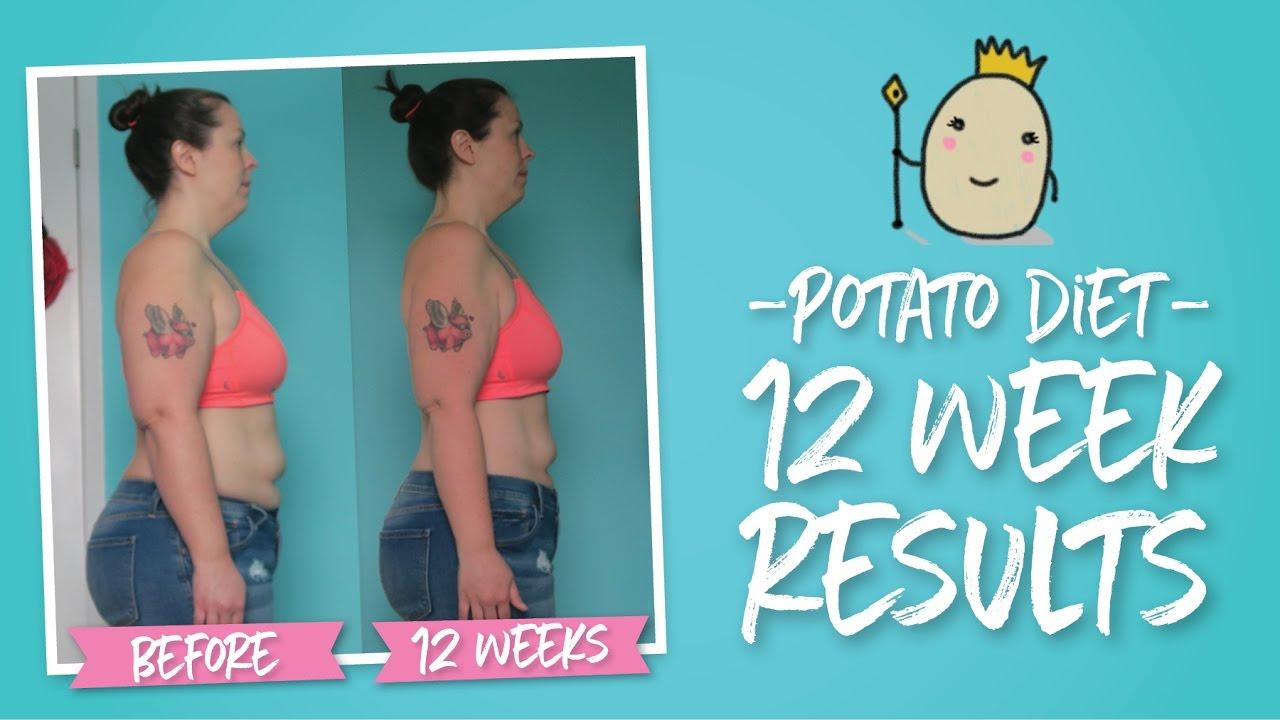 Potato Diet 12 Week Results | Weight, Measurement & Photos