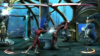 Injustice - Flash 39% Running Man Stance Cancel BnB Combo