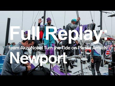 Full Replay: team AkzoNobel Turn the Tide on Plastic Arrivals in Newport | Volvo Ocean Race