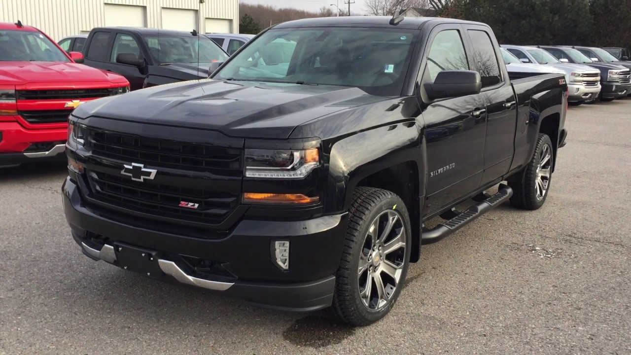 2017 Chevrolet Silverado 1500 4wd Double Cab Lt Black Roy Nichols Motors Courtice On
