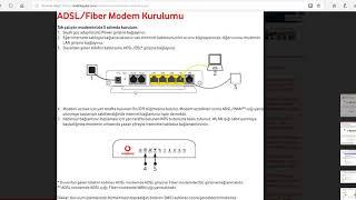 Vodafone Modemleri Nasıl Kurulur Şifreleri Nedir