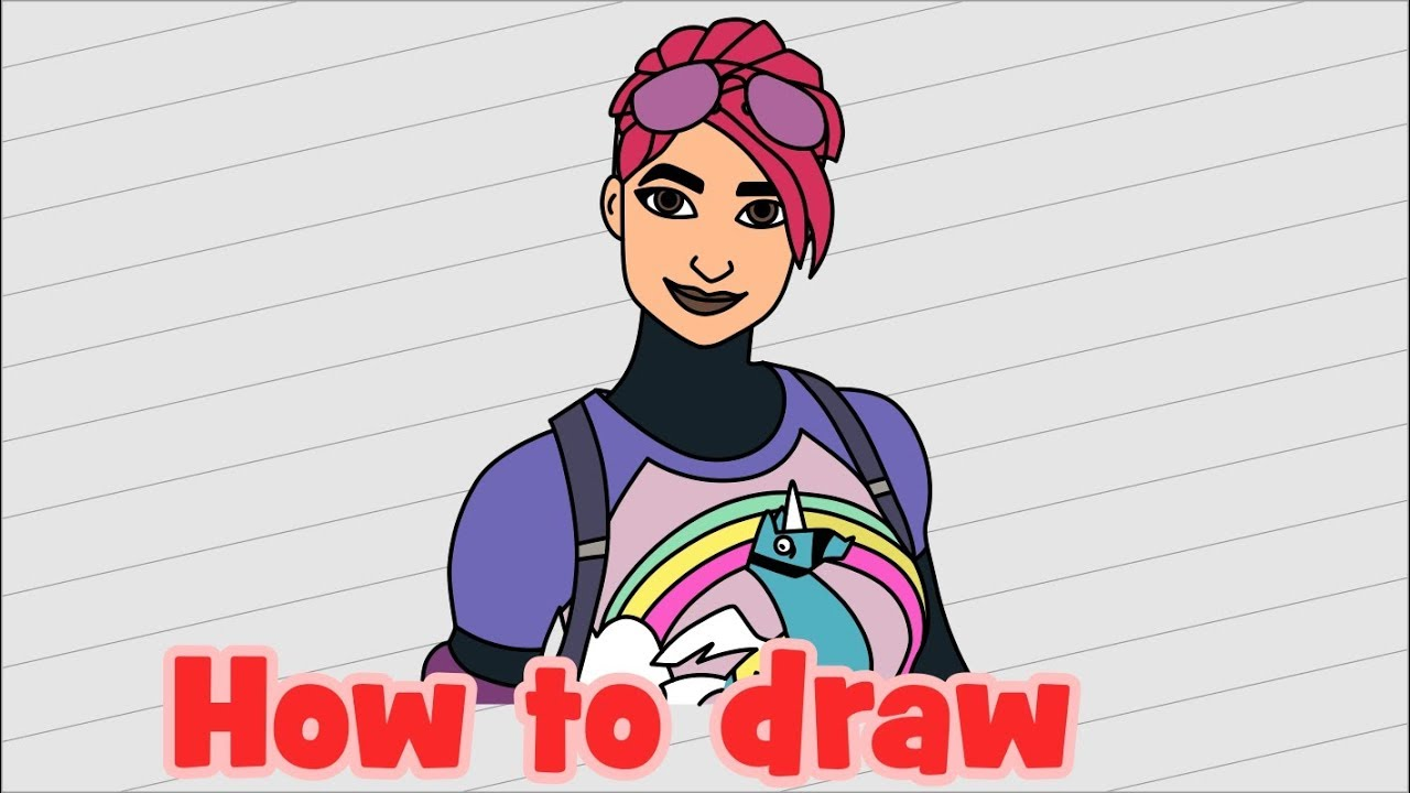 Brite Bomber Fortnite Girl Skins Coloring Pages How To Draw Fortnite Characters Brite Bomber Youtube