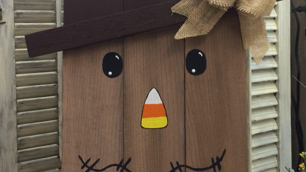 How To Diy A Cedar Picket Scarecrow Diy Home Tutorial
