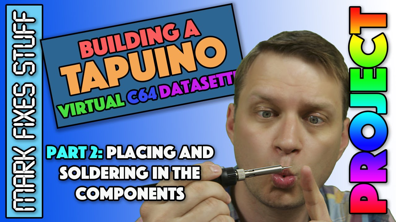 Building a Tapuino Virtual C64 Datasette Pt 2 - Placing & Soldering the  Components - Commodore SD