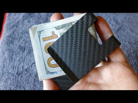 CL CARBONLIFE RFID Carbon Money Clip in 4k UHD