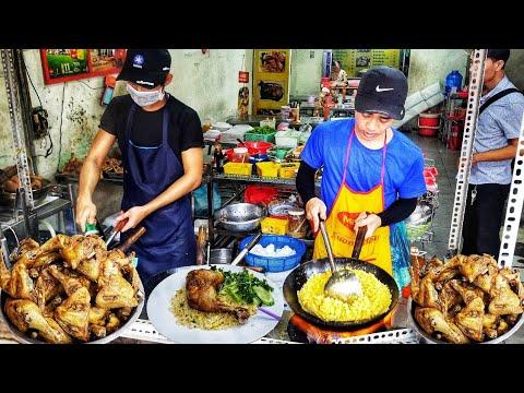 Quán cơm Chiên gà xối mỡ (Gốc Hoa) 3h chiều 2 người chiên không kịp ở Sài Gòn | Saigon Travel