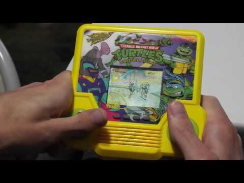Teenage Mutant Ninja Turtles Dimension X Assault Tiger Electronics Handheld LCD Game Playthrough